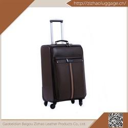Polyester/eva/pu fancy design wheeled luggage set,best travel business carry-on luggage