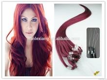 Best micro ring hair extension/micro bead hair extension/100% virgin remy brazilian micro loop hair extension