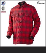สีแดงและสีดำลายสก๊อต100%เสื้อยืดผ้าฝ้ายสำหรับผู้ชาย