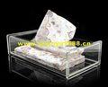 nouveau classique boîte de tissu acrylique avec motif