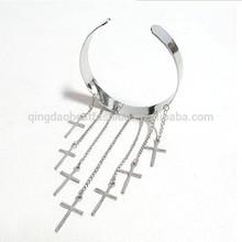 China wholesale Alloy Jewelry Slave Bracelet silver tassel upper arm cuff