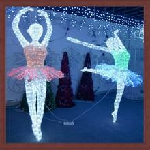 Artificial LED christmas 3D motif dancer lights for outdoor festival decoration