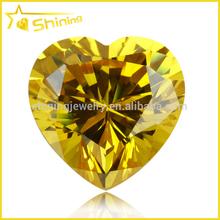 Wuzhou China wholesale heart cubic gems