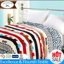 YM-0227 Cartoon design warm flannel fleece bed sheet