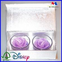 Fancy wax package box wholesale/Custom wax packaging gift box Golden supplier