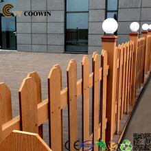 Outdoor wooden plastic garden fence