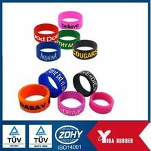 Wholesale Cheap Single Colour Segment Color Print Custom Silicone Rubber Finger Ring