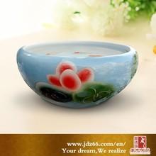 Small round ceramic indoor fish aquarium from China