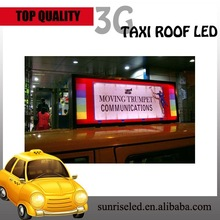 Sunrise LED Taxi Top Advertising Billboard Sign 3G input magnetic led taxi/car top/roof advertising signs