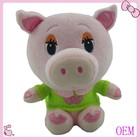Custom design plush stuffed soft animal toy pink pig