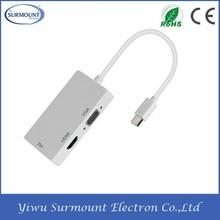 Mini DisplayPort to DVI VGA adapter Cable mini female to male adapter displayport to component