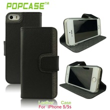 Brand new leather folding wallet case for iphone 5