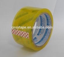 60mic water based adhesive bopp packing tape yellowish bopp tape
