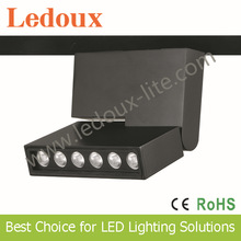 newest design and hot sale in HK fair 6watt surface mounted square adjustable led track light chip