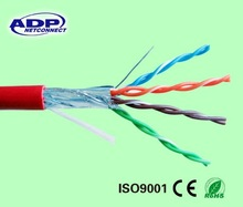 High quality high speed cheap bare copper PVC jacket ftp cat5e lan cable 4pr 24awg