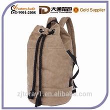 China high qualtiy drawstring Backpack canvas drawstring bag