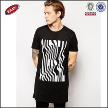 2015 popular OEM longline custom t shirt for men made in china