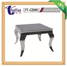 Top-selling square marble coffee table with stainless steel leg for coffee room