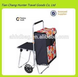 folding trolley shopping bag,shopping trolley bag with chair