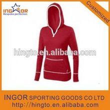 100% Ployester custom women sports hoodies design