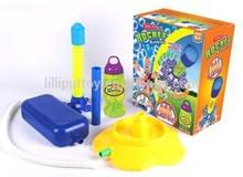 Non-Toxic Safe Bubble Water Toy Air Pump Rocket Bubble Machine