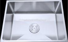 Deep steel scrub sink for kitchenware