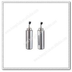 TC111 8'' Round Stainless Steel Oil Vinegar Cruet Set Salt And Pepper Cruet