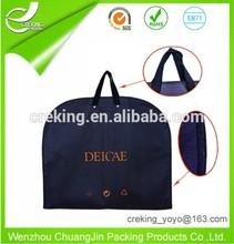Wholesale reusable foldable PEVA clear garment bag suit bags for men