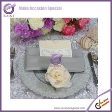 18117 silver wholesale cheap new wedding glass charger plate decoration