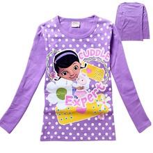 YSX 314 girl long sleeve T-shirt cartoon character PURPLE