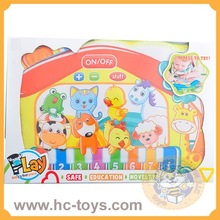 Kid's soft learning machine cloth learning machine,soft learning toys, different kinds of languages