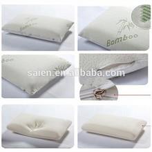 Hotel bamboo custom shape memory foam bamboo pillow