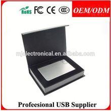 full memory capacity business card usb adapter,advertising credit card usb