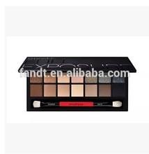 fashion lady' s love14 colors series smoky smash box palette eyeshadow multi-colors sexy smash box shadow with brush