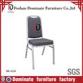 Marco del metal de cuero silla tapizada