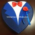 Em forma de coração caixa de papel