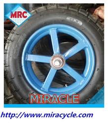 CHINA 13 inch pneumatic rubber wheelbarrow tyre and inner tube small wheel 3.25/3.00-8