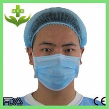 xiantao wuhan hubei mek CE,ISO,FDA blue color non-woven disposable surgical cap