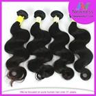 Factory 6A double drawn virgin virgin malaysian hair extension