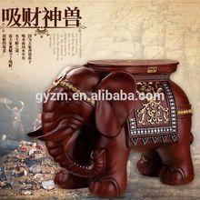 China manufacturer home decor elephant bone carving lifelike elephant