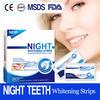 Bright smile teeth whitening strips bleaching strips night use