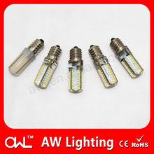 Hong Kong LED AC110V or 230V silicon 2W E14 circular LED lamp