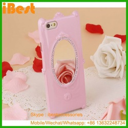 iBest Magic mirror phone case for Iphone 6, cell phone case with mirror for Iphone 6,brand name mobile accessories