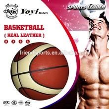 real leather basketball, 12 panel shape