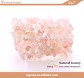 Rq0001 ntural 4~10mm de cuarzo rosa de piedras preciosas joyas de chip de piedra natural del grano pulsera