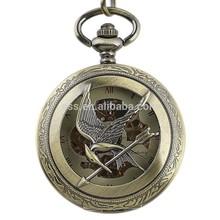 WP128 New Mens Elegance Pocket Watch Pocket Watch Chain Sculpture