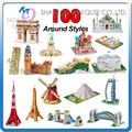 Mini Qute autour de 100 styles différents taille world 's greatest architecture 3d puzzle 3d puzzle architecture conception de villa