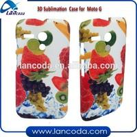 Hot selling heat transfer 3d sublimation cover for Motorola MOTO G DIY custom phone case