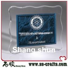 2014 Newest Plexiglass Award Stand/Logo Printed Acrylic Trophy Base