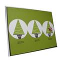 3d piscar saudação amostra de decoração de natal do cartão deimpressão
